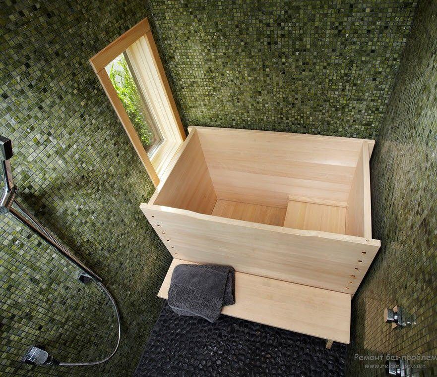 Традиционная форма японской ванны