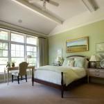 Интерьер и дизайн зеленой спальни