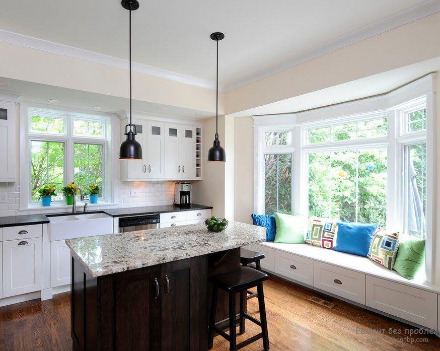 Окно кухни дизайн