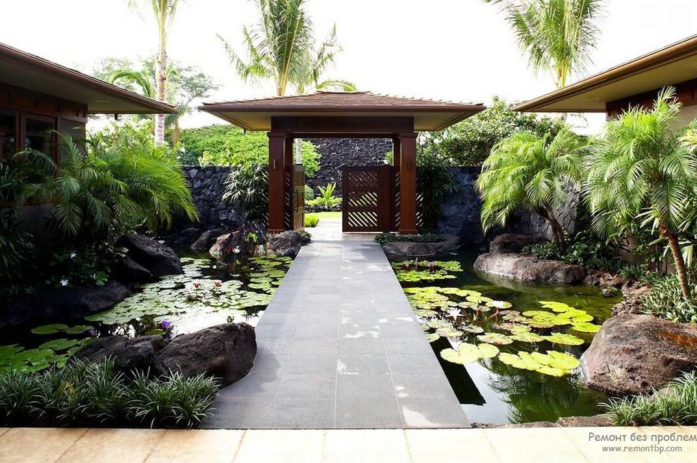 Пруд в японском стиле: симметрия и союз всех стихий воздуха, воды, дерева и камня