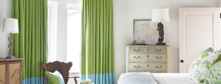 Дизайн штор в спальной комнате