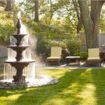 Декоративные фонтаны в саду