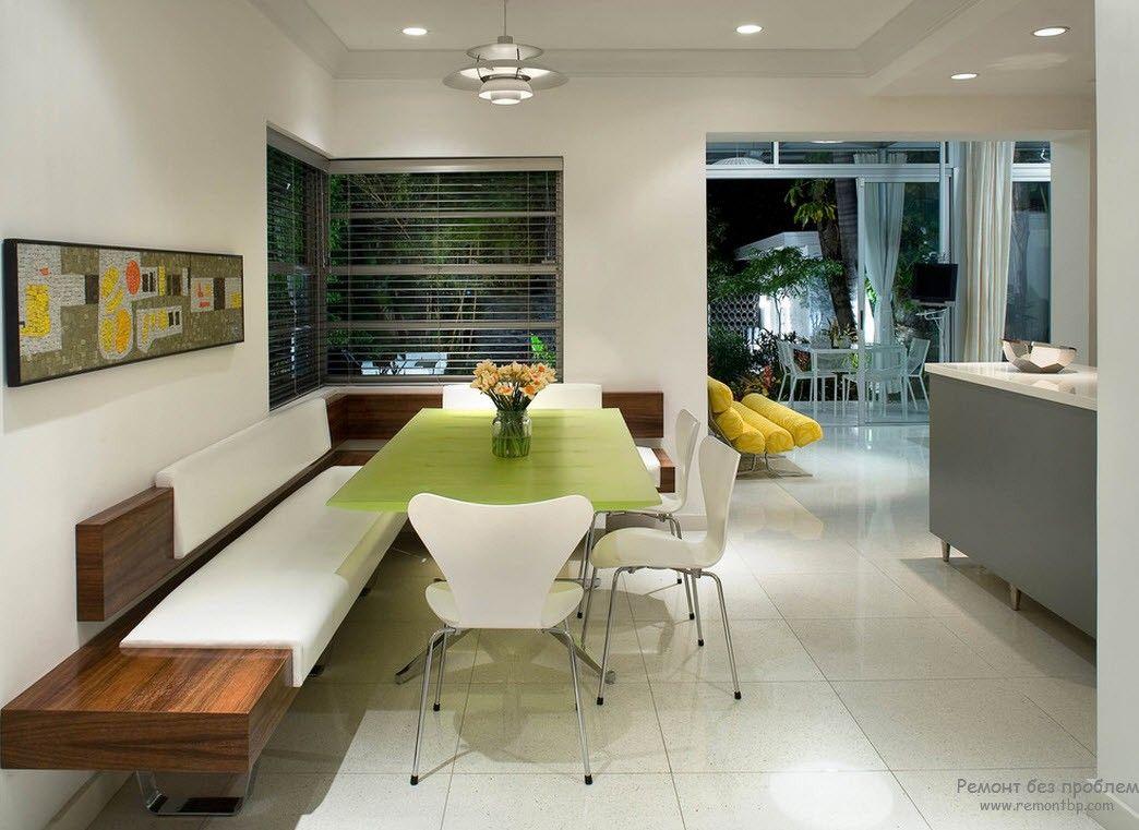 Красивый, уютный интерьер и дизайн современной кухни