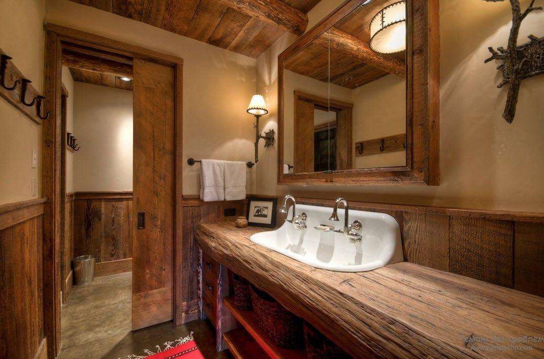 Кофейно-бежевые оттенки в интерьере ванной комнаты