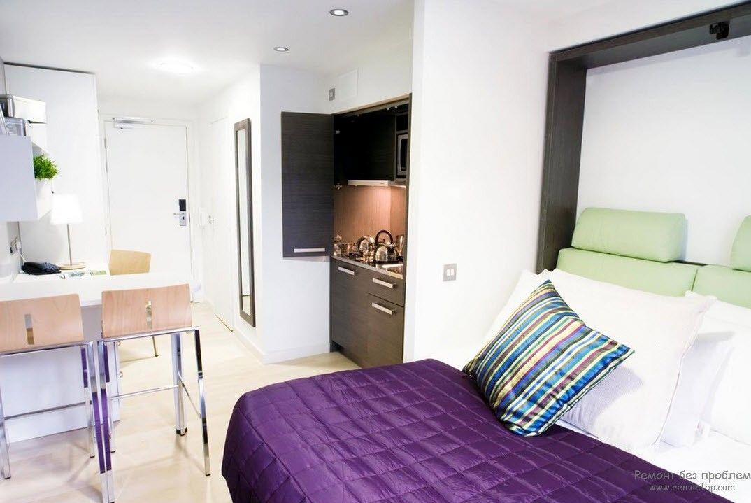 Милый и приятный интерьер квартиры-студии
