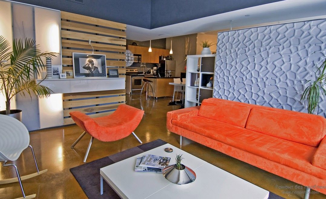 Интересный дизайн квартиры-студии