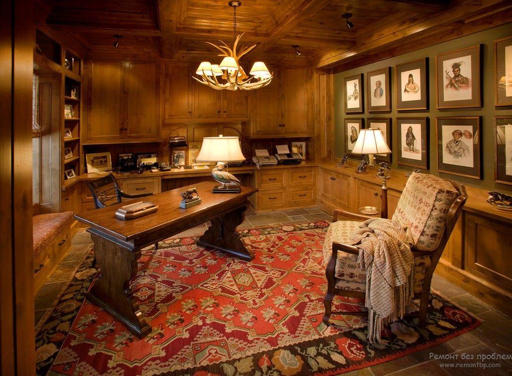 Уютный домашний кабинет