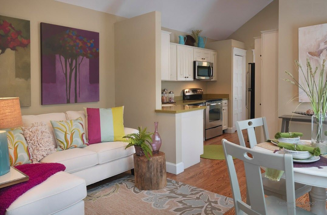 Аккуратный интерьер и дизайн квартиры-студии