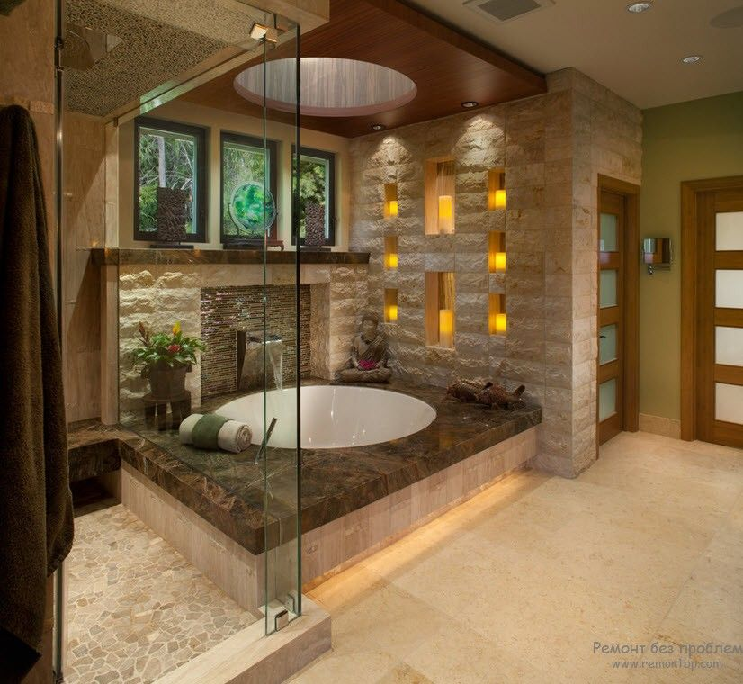 Овальная керамическая ванна