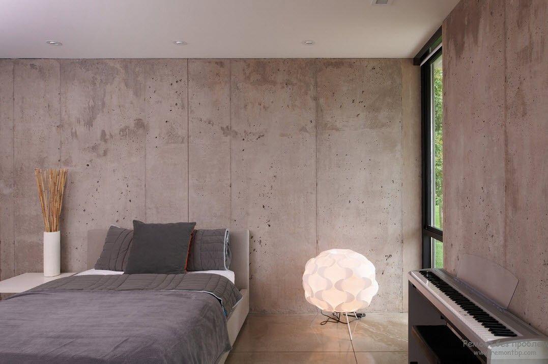 Минималистская спальня, выполненная в пастельных оттенках