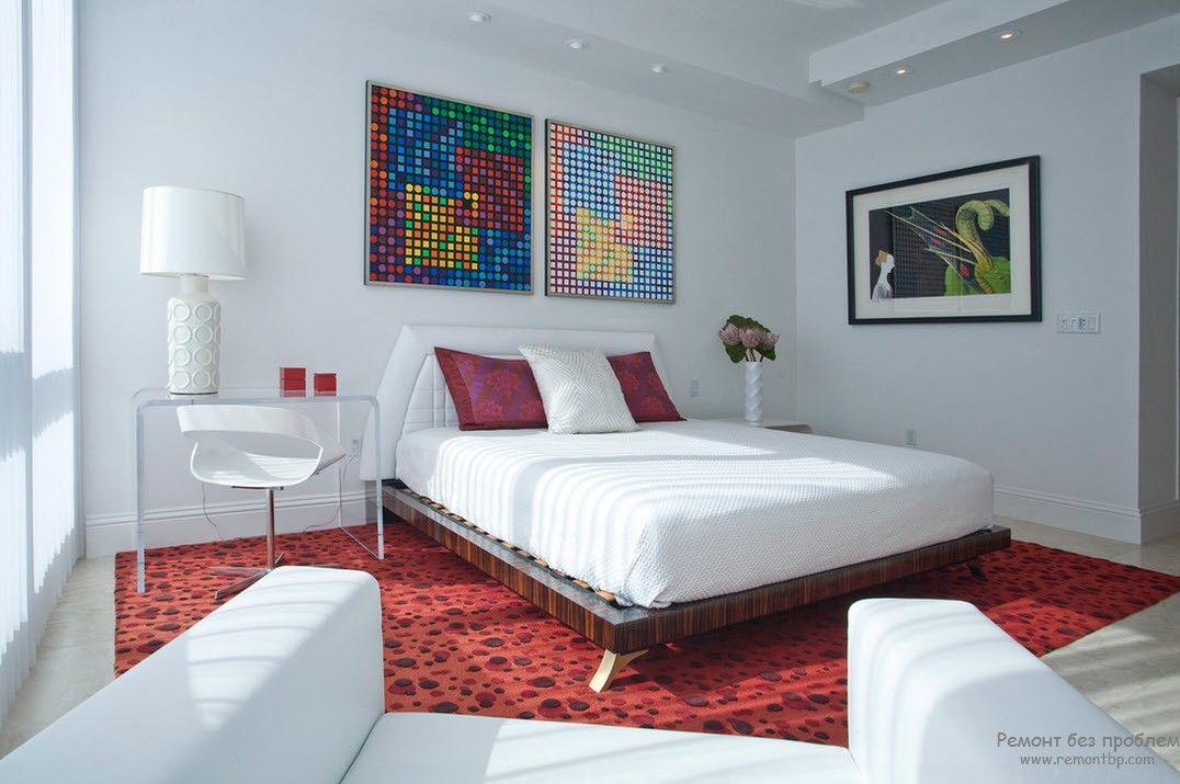 Современное освещение в интерьере спальни
