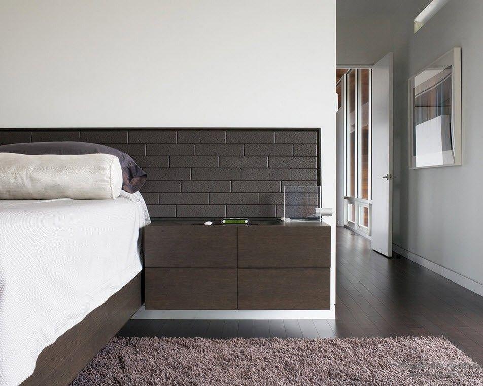 Спальня с использованием двух контрастных цветов