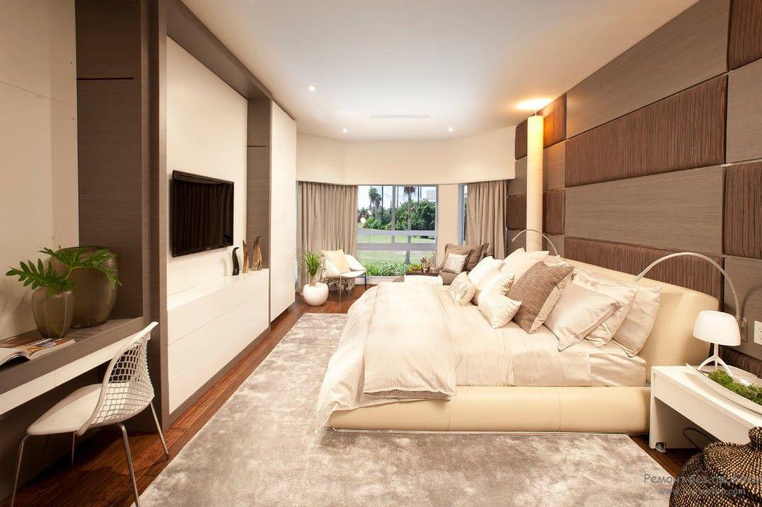 Дизайн и интерьер современной спальной комнаты