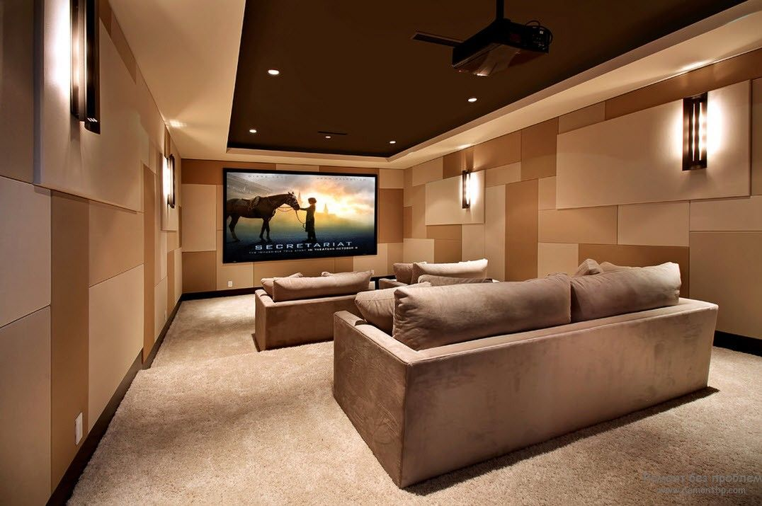 Кинотеатр в квартире дизайн фото