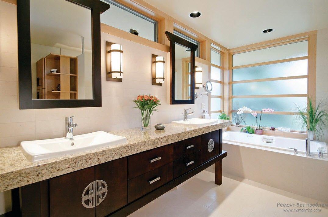 Зона переодевания в ванной