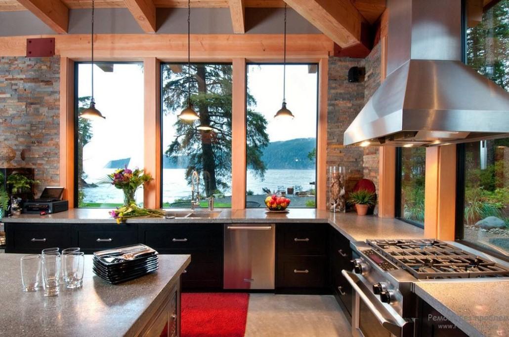 Дизайн кухни с окном фото-идеи с примерами в