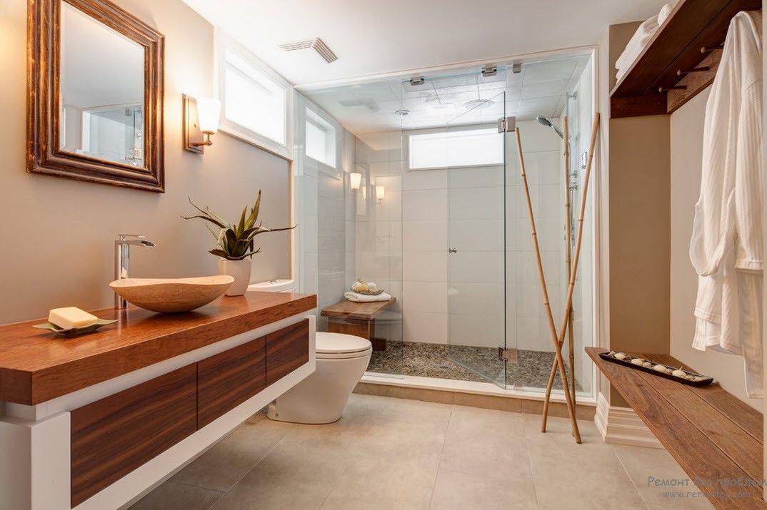 Разделение на зоны в японской ванной