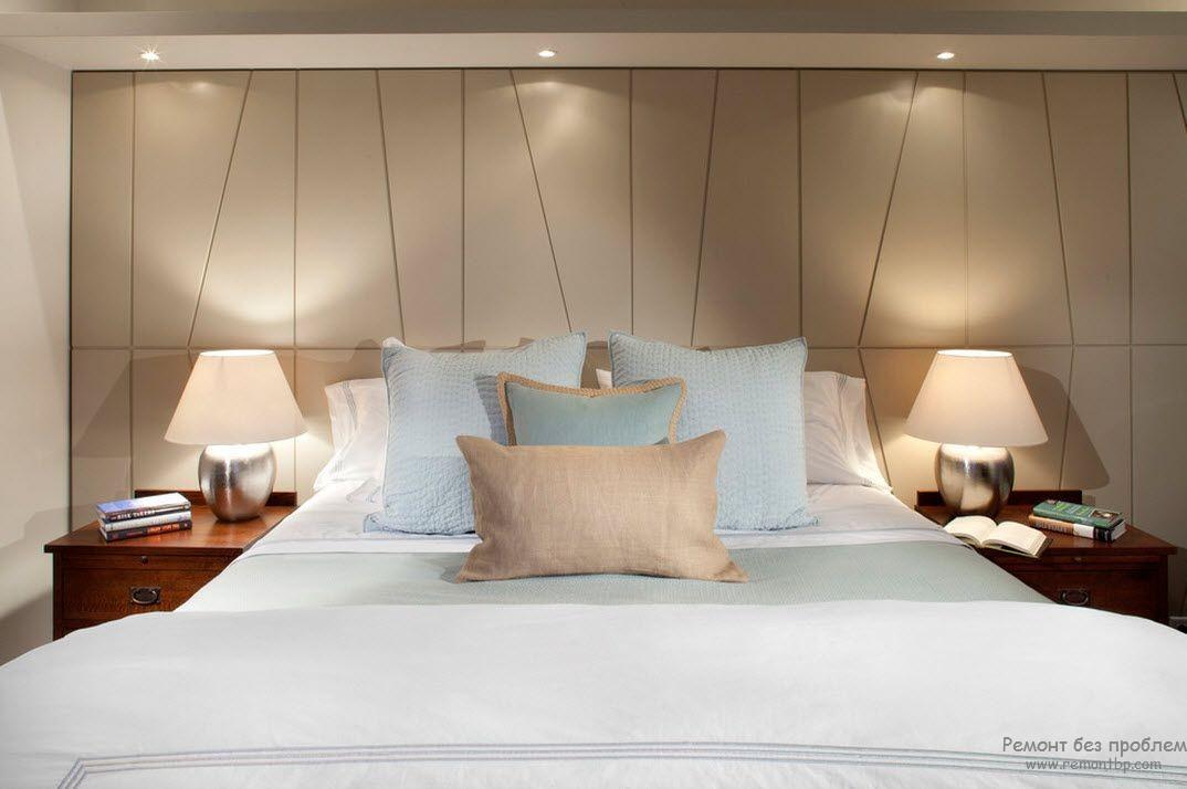 Настольные лампы для современного интерьера спальни