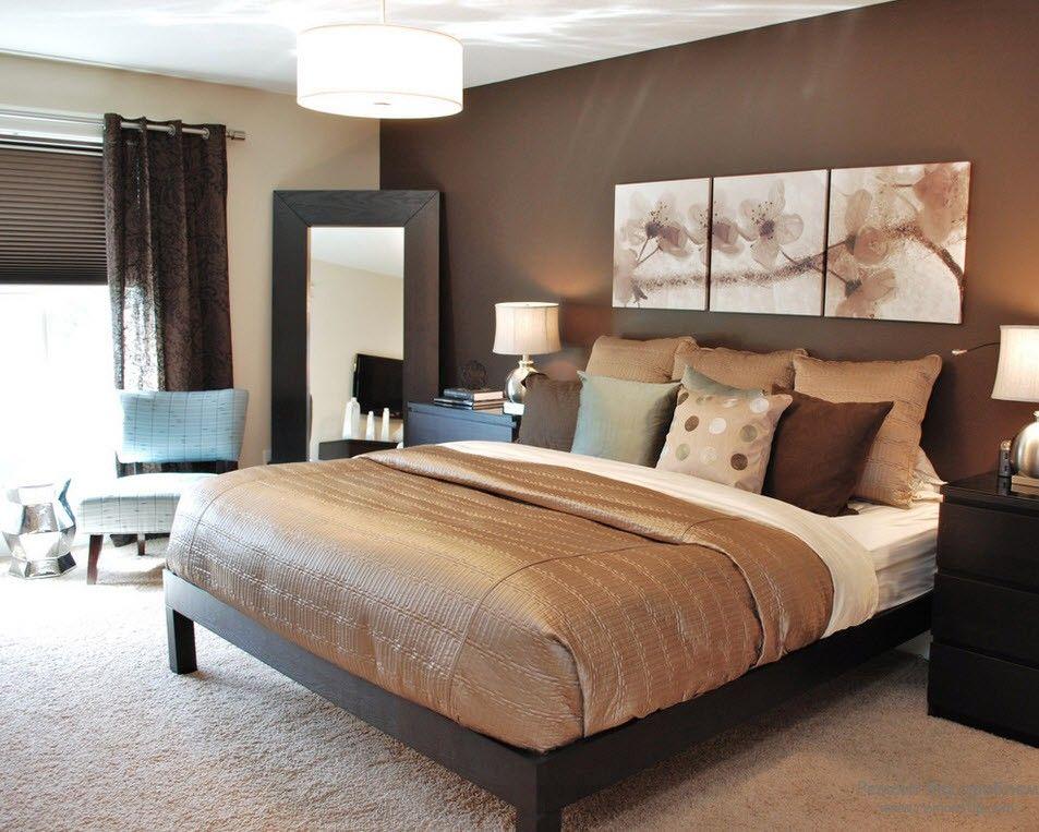 Мебель в современной спальной комнате
