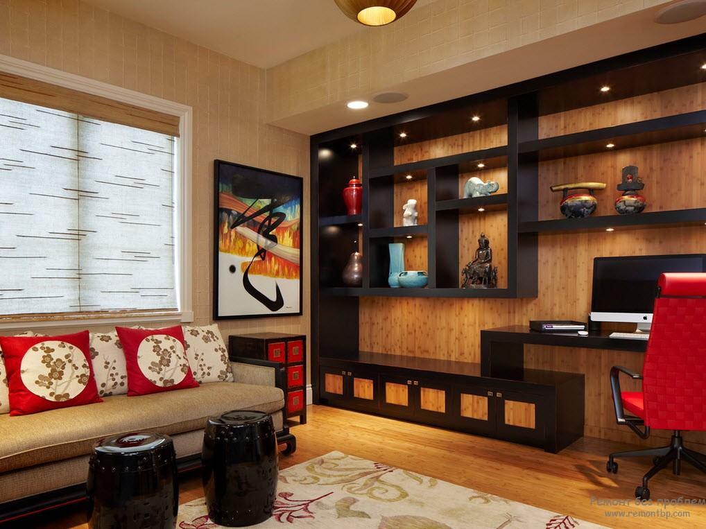 Яркий домашний кабинет