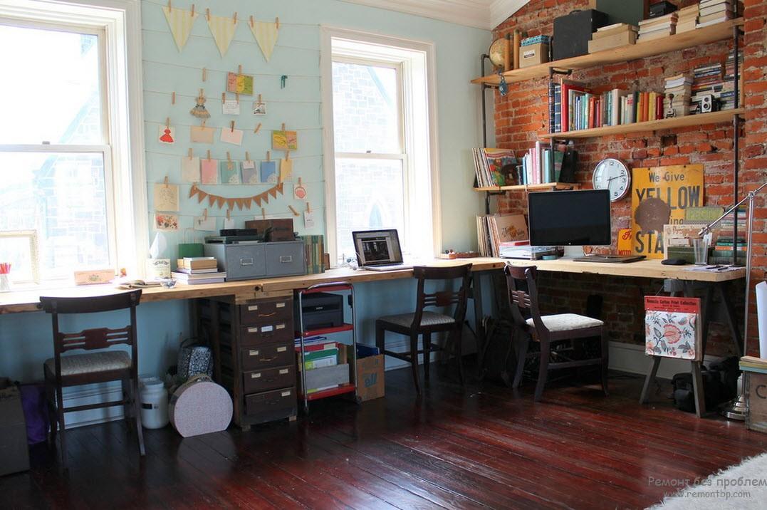 Оригинальность в интерьере домашнего кабинета