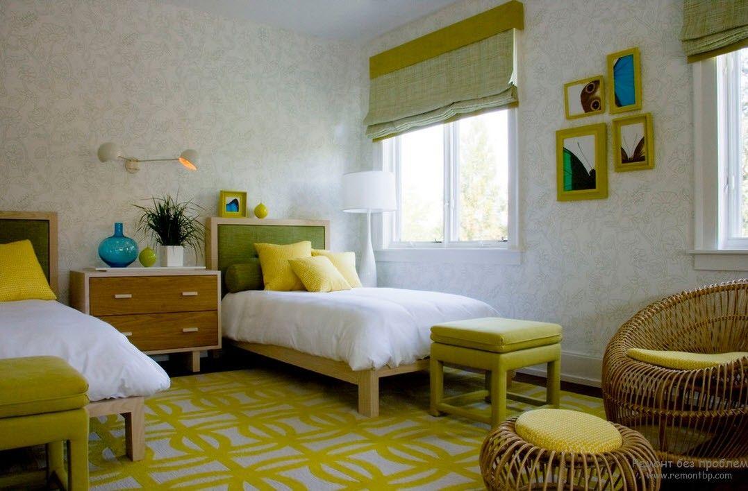 Оформление детской комнаты с параллельным расположением кроватей
