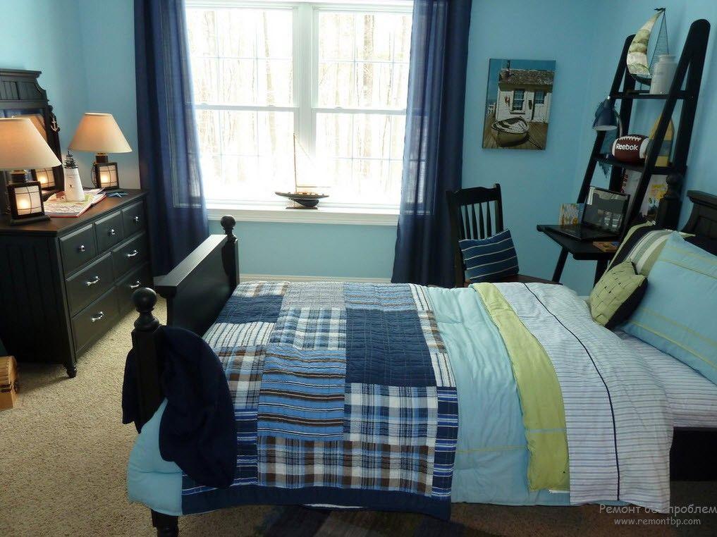 Мебель в интерьере комнаты для мальчика