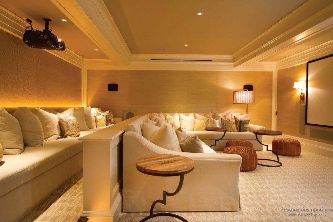 Органичный дизайн домашнего кинотеатра
