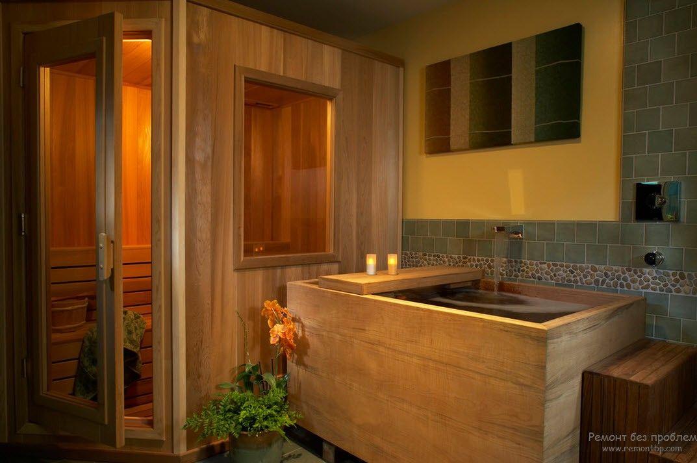 Деревянная ванна - офуро