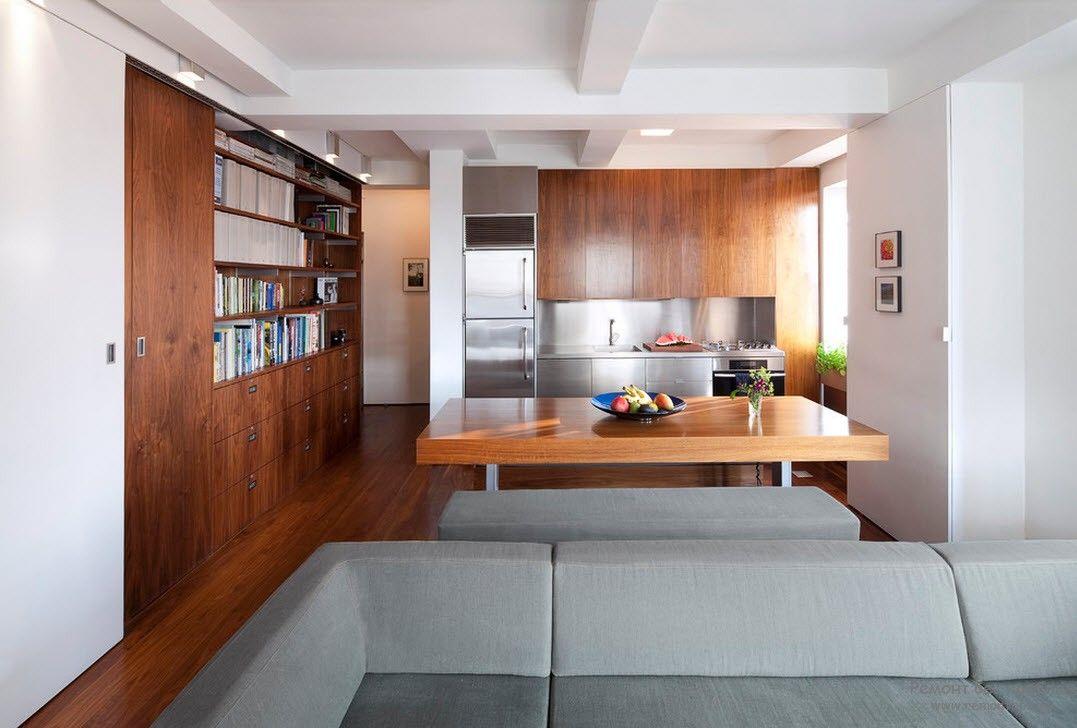 Вариант встроенного шкафа в квартире-студии