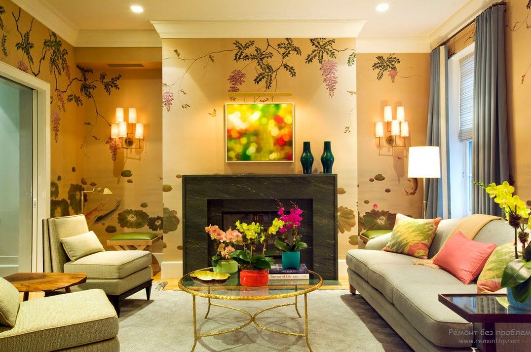 for Wallpaper designs in india for living room