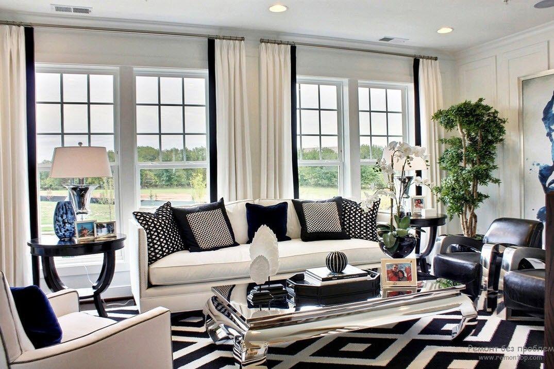 Черно белые шторы