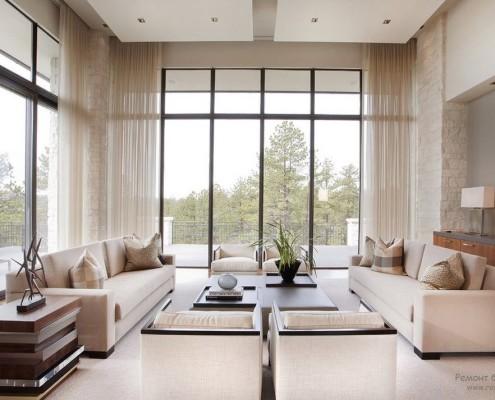 витражные окна со шторами