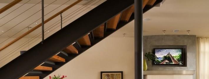 Металлические лестницы в стиле лофт