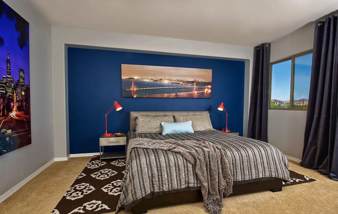 Стиль модерн современной спальни