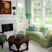 Диван и кресла зеленые