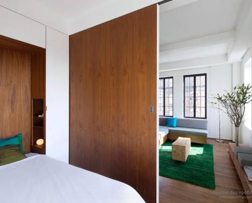 Зонироваине гостинной и спальни