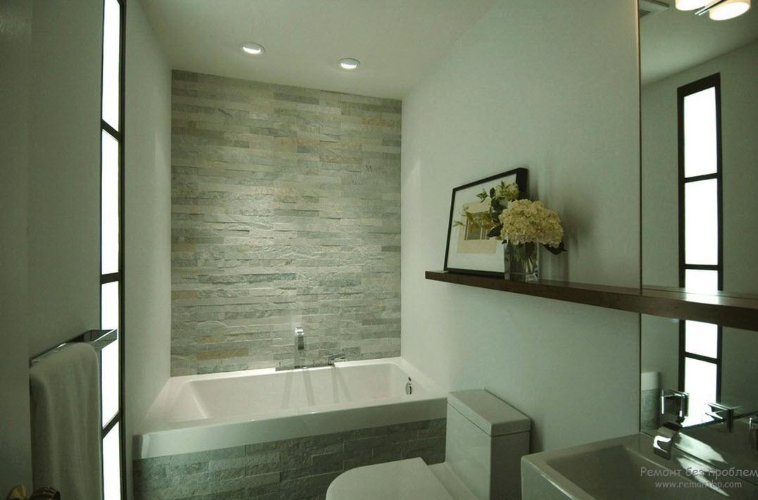Благородство камня в оформлении туалетной комнаты