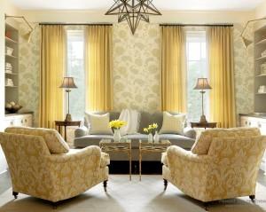 Кресла желтые