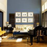 Синий и голубой цвета в интерьере
