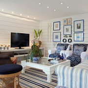 Суперсовременный и модный интерьер зала в квартире