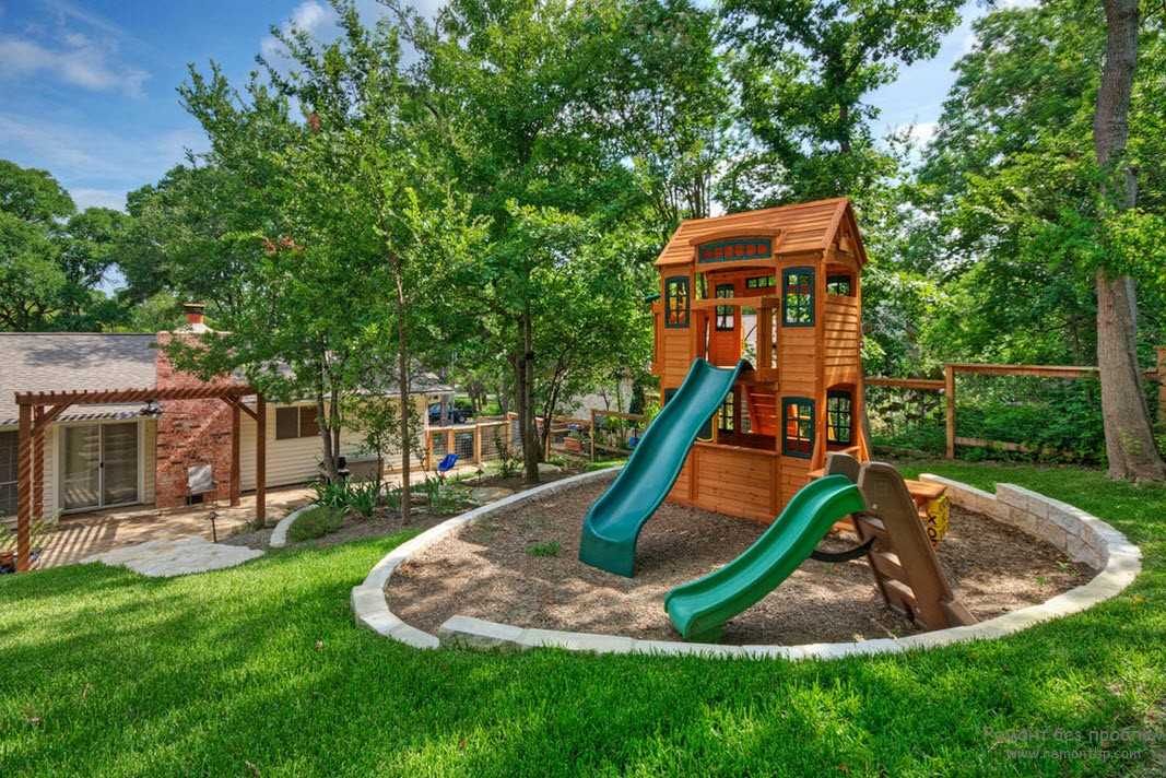 Дизайн детской площадки в частном доме