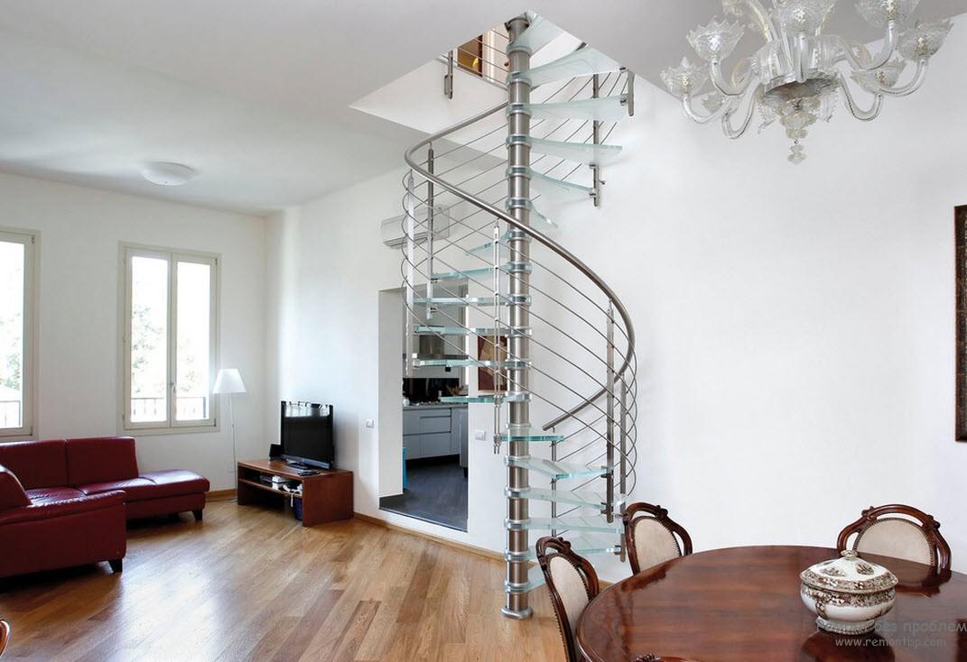 Фото лестниц на второй этаж в частном доме 30 фотография