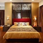 Красный цвет в японской спальне