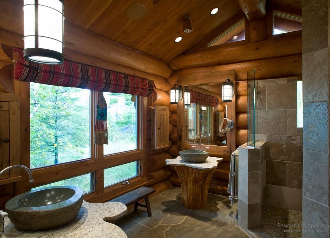 Дизайн ванной комнаты на даче