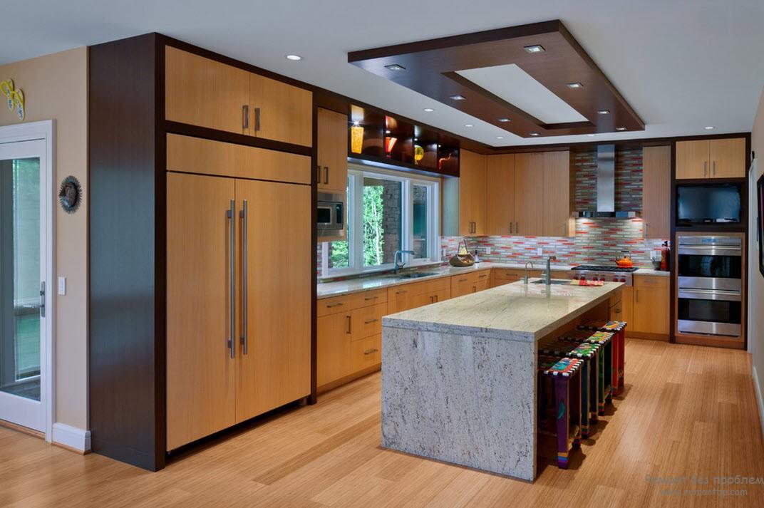 Гипс дизайн кухни