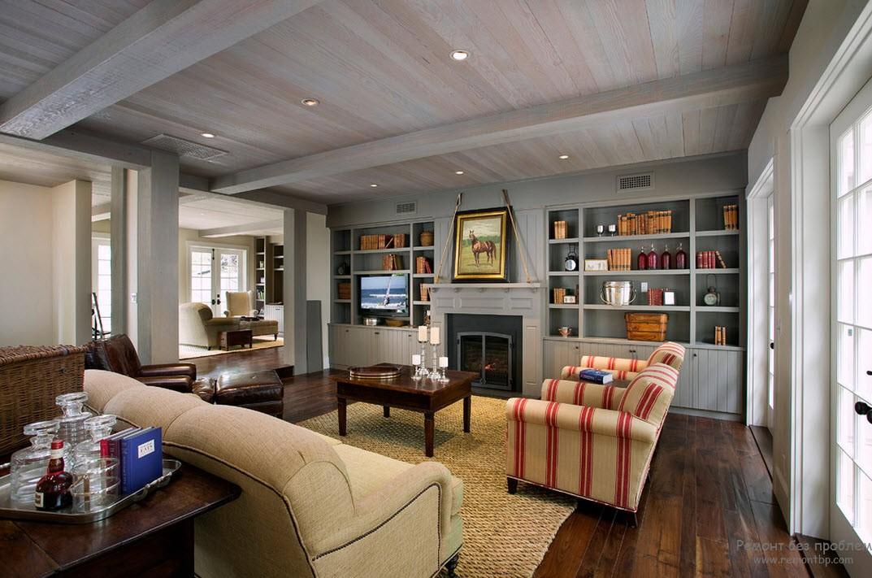 Внутренняя отделка загородного дома: интересные варианты дизайна стен частных домов внутри на фото
