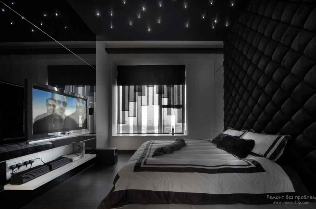 Дизайна черной спальни