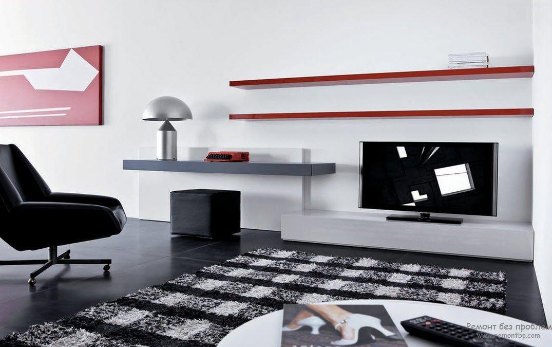 Характерной тенденцией минимализма является использование консольной мебели