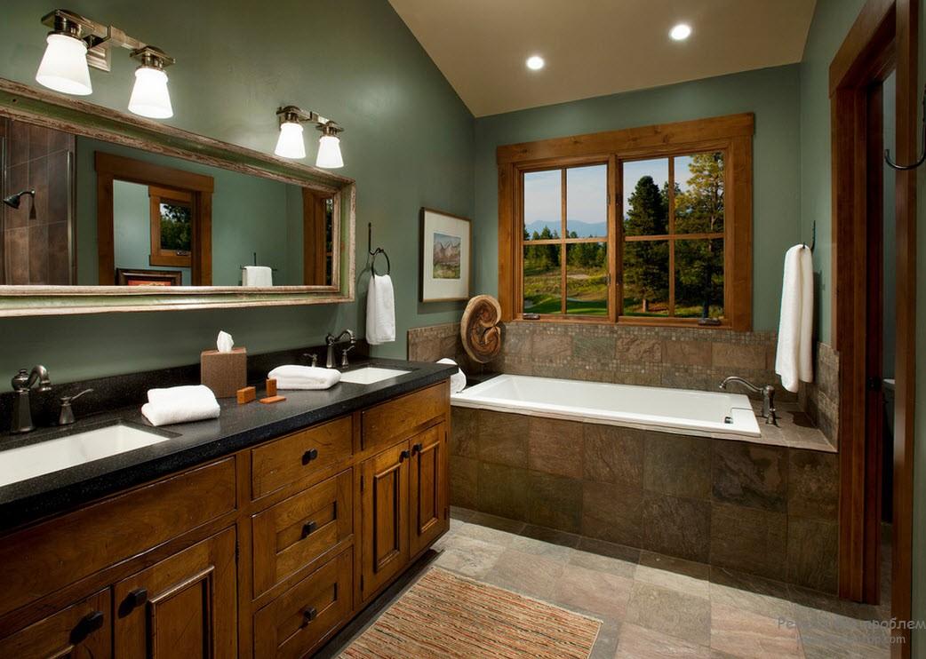 Керамическая плитка в дачной ванной